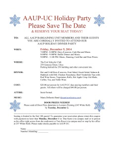 AAUP-UC 2014 Holiday Party