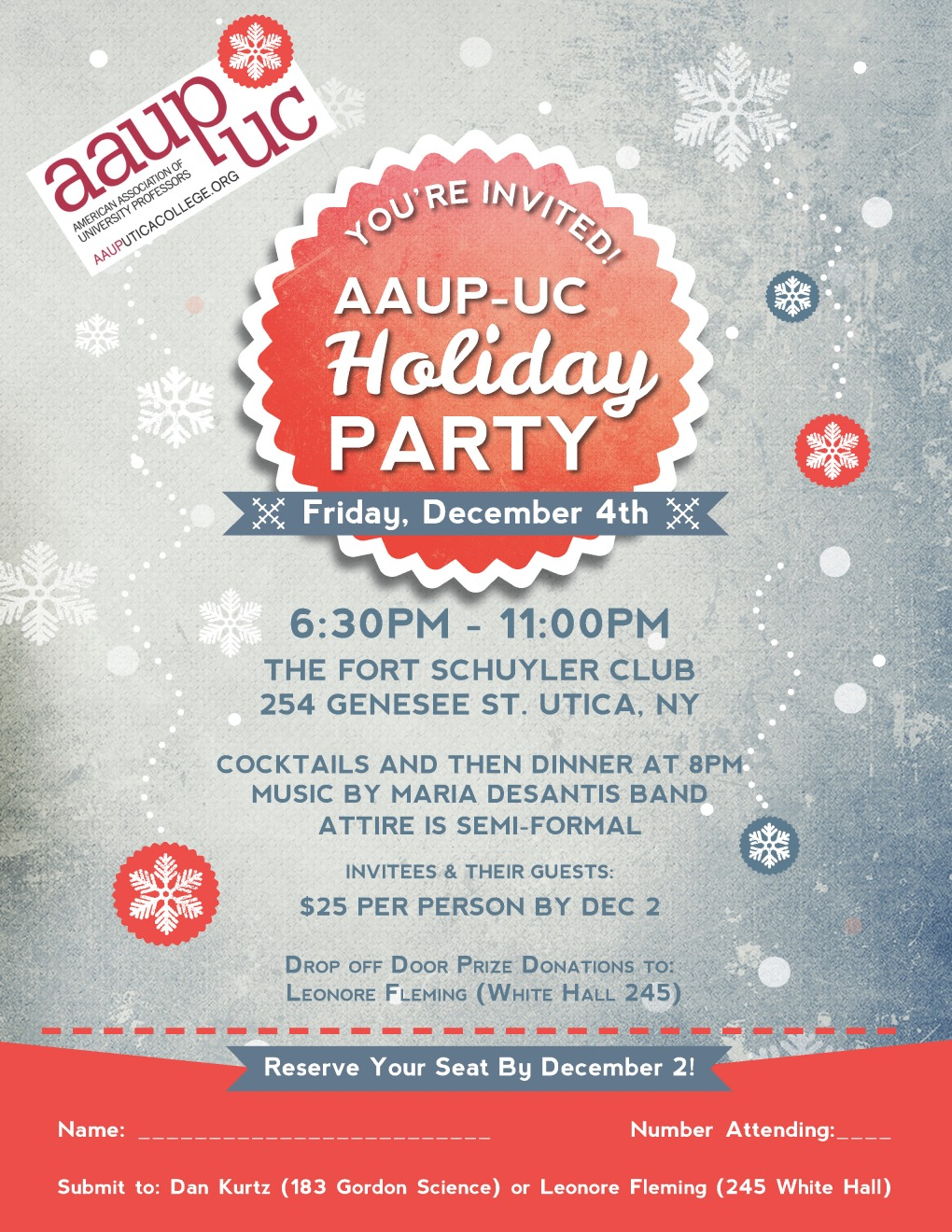 AAUP holiday party Flyer