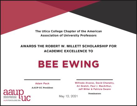 2021 AAUP-UC - Millett Award